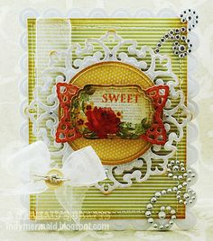 Card featuring Spellbinders and K Andrew Designs Coffee & Tea Time stamp set