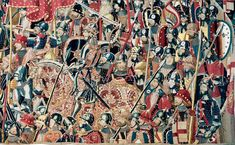 King Afonso V of Portugal (on horse) in 1471, conquers the Moroccan cities of Asilah / Arzila and Tangier /Tanger, strategically located near the Strait of Gibraltar. (Pastrana Tapestries)