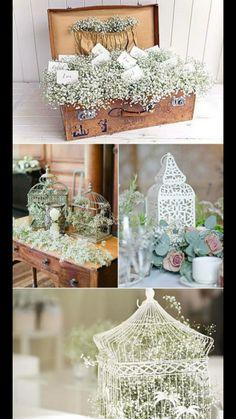 Baby's breath everywhere. Chic Wedding, Rustic Wedding, Our Wedding, Dream Wedding, Floral Arrangements, Wedding Planner, Wedding Flowers, Bridal Shower, Wedding Decorations