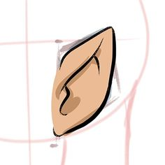 Step 6 Adding shadows to your Elf Ears, choose a darker tone and paint those shadows in!