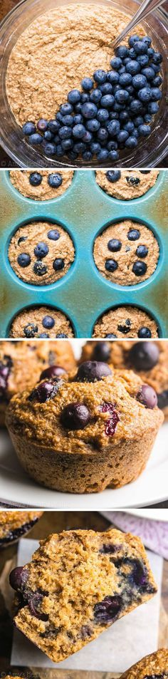 Blueberry Banana Bran Muffins: