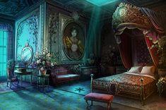 fantasy bedroom castle rooms bedrooms dark anime parables hidden prince game victorian hu indafoto
