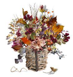 """""""Autumn Centre Arangement"""" by rever-de-paris ❤ liked on Polyvore featuring art, autumn, artset and centrepiece"""