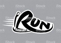 Run lettering emblem royalty-free run lettering emblem stock vector art & more images of store window Cross Country Shirts, Running Art, Shirt Logo Design, Letter M Logo, Bike Tattoos, Portrait Inspiration, Creative Logo, Free Vector Art, Art Logo