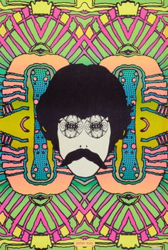 Psychedelic Self Portrait Peter Max (1968)