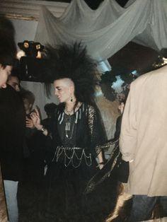 Natacha @ Minotaure party, Neuchâtel, 1989