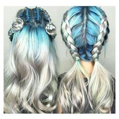 Silver Hair ❤ liked on Polyvore featuring hair