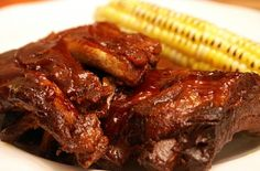 Super Easy Slow Cooker Barbecue Ribs #fingerlicking #meat #grill