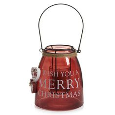 Wilko Heart Lantern Red