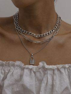 Grunge Accessories, Grunge Jewelry, Trendy Jewelry, Cute Jewelry, Jewelry Accessories, Fashion Accessories, Jewlery, Colar Fashion, Fashion Necklace