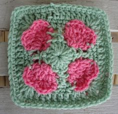 """One Crochet day at a Time """"BlueDragonFly Designs on a Hook"""": FROM MY HEART 6"""" SQUARE"""