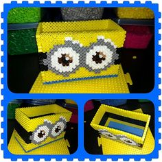 Minion holder perler beads by shannonhall678