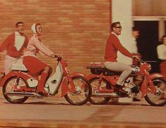 1960s HONDA MOTORCYCLE SCOOTER MOTORBIKE vintage advertisement Mod Men Women