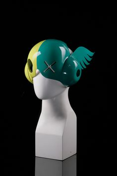 Custom bicycle helmets and masks by SmirkMasks. Buy or commission one.