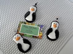 Penguin Ornament - Fused Glass.