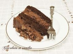 Tort cu mousse de ciocolata si visine
