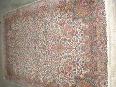 "5'9"" X9' Vintage KARASTAN Floral Kirman Rug  Model #742  Wool Carpet   #Persian"