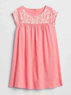 Gap Baby Embroidery Cap-Sleeve Dress Pink Treat Baby Embroidery 22bb477e71e3