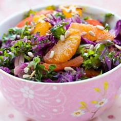 #168120 - Rainbow Kale Salad with Mandarins