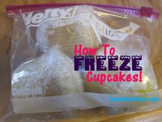 How to Freeze Cupcakes - What I need to do so I don't feel obligated to eat them all!