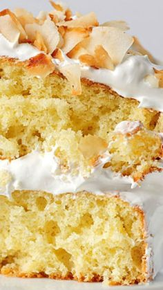 Pineapple Cake with Toasted Coconut Recipe ~ Amazing!