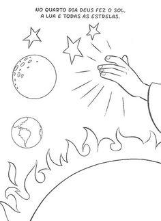 A história da Criação do Mundo  pode ser trabalhada com as crianças  de forma ilustrada, colorida e divertida.  Na Bíblia, essa passagem est...