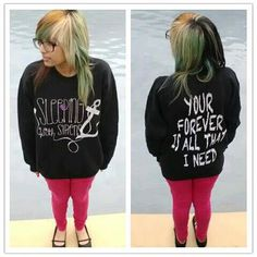 Sleeping With Sirens Crewneck. $30.00, via Etsy.