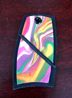 Bright Polymer Clay Pendant  REDUCED 50 Off by KatersAcres on Etsy, $5.00