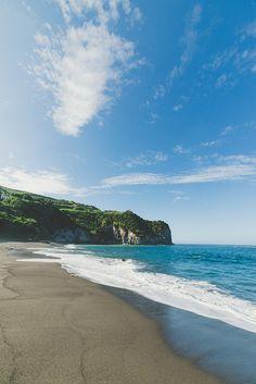 Beach  Sao Miguel, Azores, Portugal