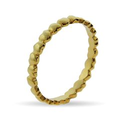 Stackable Reflections Gold Vermeil Band of Hearts Stackable Ring $24