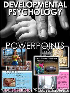 Developmental Psychology PowerPoint is a great resource to add to your psychology curriculum. This 32 slide PowerPoint is packed with beautiful graphics, engaging video clips and presenter notes that aid your understanding of each slide. I have used these with my A.P. classes as well as regular psychology classes.