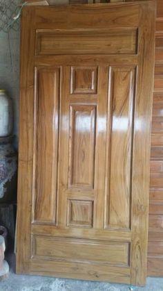 House Main Door Design, Single Door Design, Wooden Front Door Design, Door Gate Design, Wooden Front Doors, Door Design Interior, Wood Doors, Wood Exterior Door, Exterior Front Doors