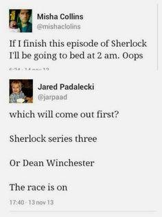 They... they watch... Sherlock.....