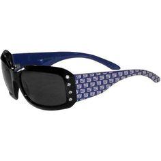 NFL New York Giants Women's Designer Sunglasses with Rhinestones, Black
