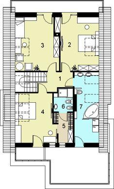 Rzut HG-I22 CE House Layout Plans, House Layouts, Floor Plans, Building, Design, Homes, Buildings, House Floor Plans, Design Comics