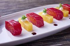 'Saumon Lavel rouge gravlax, betteraves fourragères rôties ...' La suite à découvrir au restaurant étoilé La Cuisine #foodie