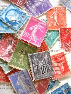 Stamp collections (Charade, anyone?)