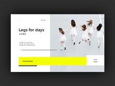 Legs for days by Zhenya&Artem #Design Popular #Dribbble #shots