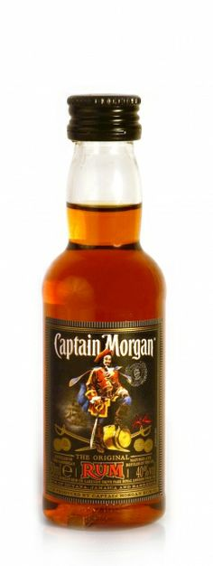 """mini captain morgan bottles as wedding favors that can have a custom label like """"Let's set sail"""""""