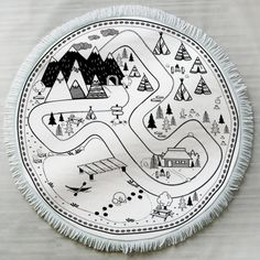 Roundie Baby Play Mat - Let's Go Camping Design by Little Poppy Supply Co