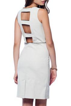 Polkadot - Sandra Dress in Stone