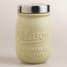 Ivory Ceramic Mason Jar - World Market