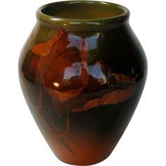 Rookwood Artist Signed Dated 1903 Floral Motif Vase In High Glaze @rubylanecom #VintagePottery #rubylane