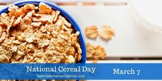Grab a bowl, get a spoon and eat your favorite cereal all day long - No guilt It's #NationalCerealDay