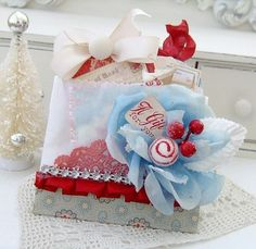 glassine bags sewn together to hold tags, cards, recipes, etc. - lilybeanpaperie