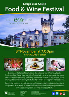 Lough Eske Food & Wine Festival Wine Festival, 17th Century, Wine Recipes, Lovers, Day, Creative, Food, Meal, Essen
