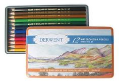 The pencil museum, in Keswick, in the heart of the English Lake District opened in 1981 and to celebrate its anniversary Derwent has created a special edition 'Retro' tin. Derwent Colored Pencils, Pastel Pencils, Watercolor Pencils, Watercolour Painting, Painted Boxes, Coloring Pages To Print, Painting Tips, Art World