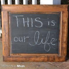 Easy Dresser Door Chalkboard Upcycle