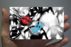 "Illustration de la serie "" Cute Invasion"" 12.5 x 7.5 cm Triangle, Playing Cards, Tattoos, Illustration, Tatuajes, Playing Card Games, Tattoo, Illustrations, Game Cards"