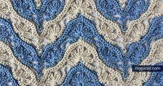 Hermoso punto de crochet / Beautiful Stitch: #free #crochet #patterns
